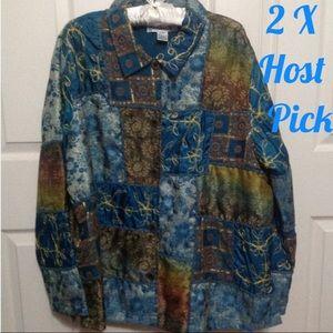 🎈2X HP🎈Roamon's Dressy Jacket - Plus Size 1X